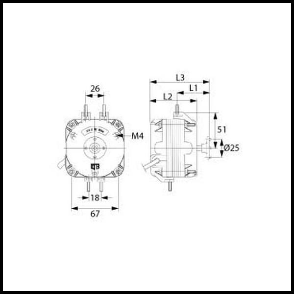 moteur de ventilateur elco plug 1682 18 w