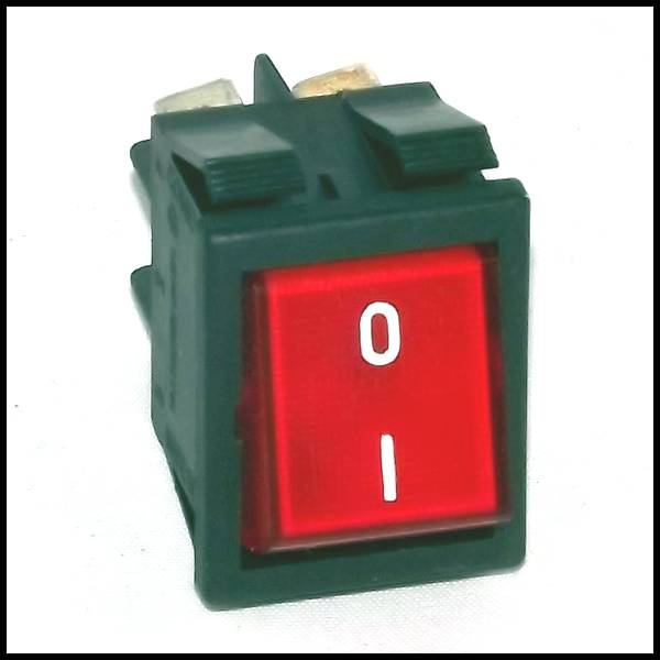 interrupteur lumineux rouge avec marquage i o. Black Bedroom Furniture Sets. Home Design Ideas