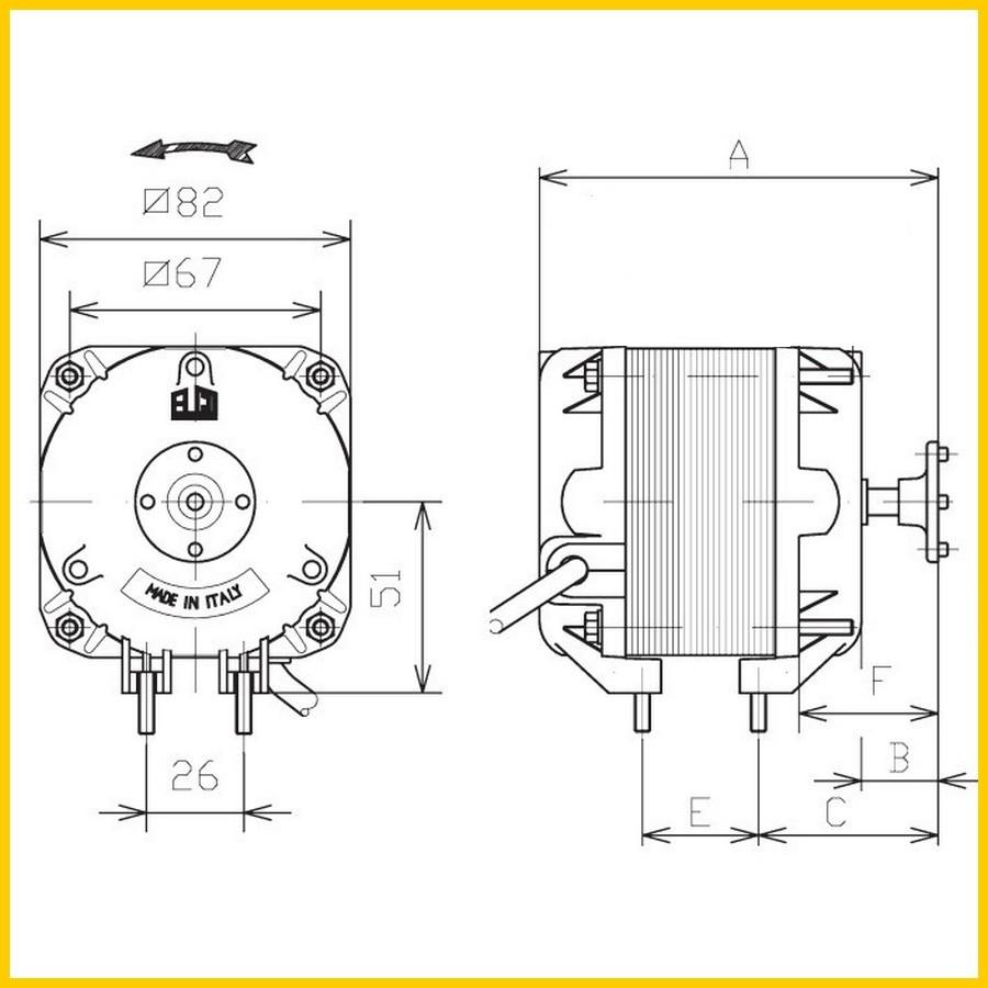 moteur de ventilateur elco vn25 40 1458 25 w avec. Black Bedroom Furniture Sets. Home Design Ideas
