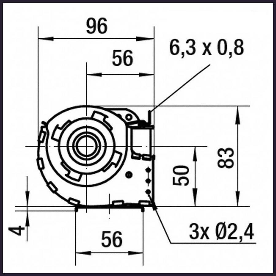 ventilateur tangentiel teddington 2 x 270 mm