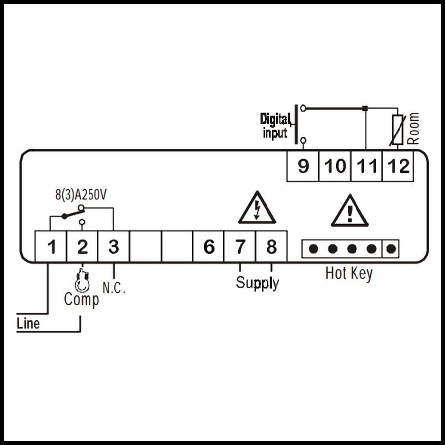 thermostat r u00e9gulateur  u00e9lectronique 1 relais dixell xr20c