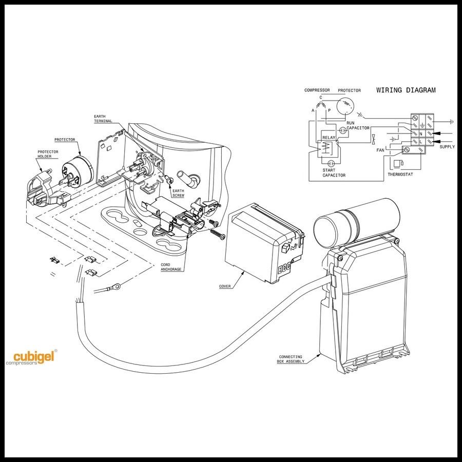 sch u00e9mas de branchement du compresseur acc cubigel boitier csr px connection externe