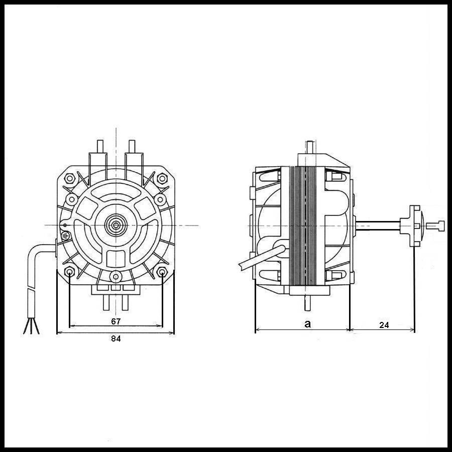 moteur de ventilateur emi 5 4 16  70 16 w axe long