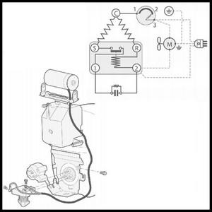 Schema branchement compresseur frigo