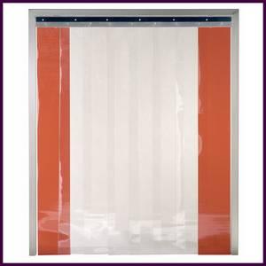 Rideau de chambre froide avec tringle en INOX hauteur 1800 mm