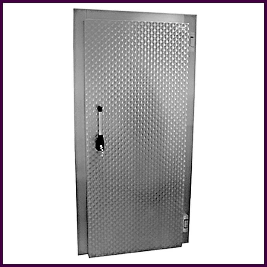 Porte de chambre froide en aluminium galvanis for Poignee de chambre froide