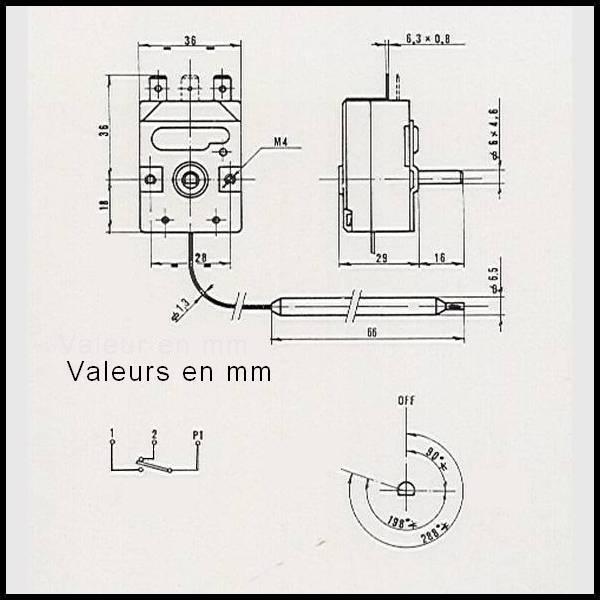 thermostat m u00e9canique prodigy f2000 de