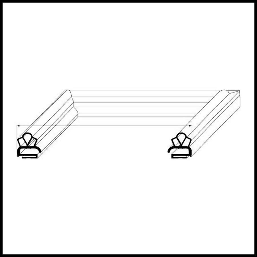joint de mat riel frigorifique gris sur mesure type 9138. Black Bedroom Furniture Sets. Home Design Ideas