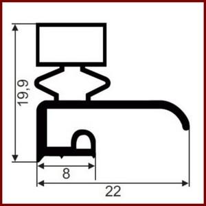 joint de mat riel frigorifique gris sur mesure type 9163. Black Bedroom Furniture Sets. Home Design Ideas