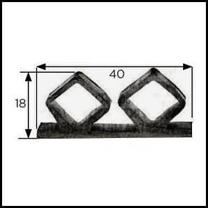 joints de frigos professionnels 40 x 18 mm par longueur de 3 m. Black Bedroom Furniture Sets. Home Design Ideas