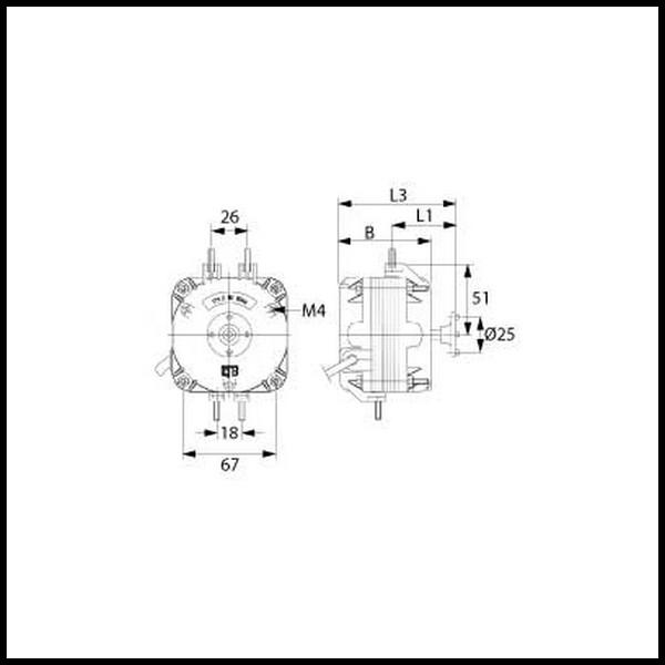 moteur de ventilateur ebmpapst m4q045