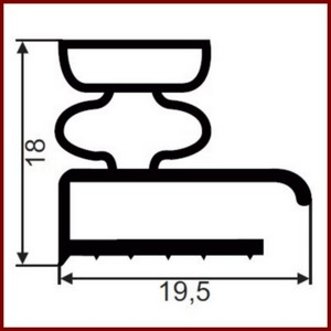 joint de mat riel frigorifique gris sur mesure type 9253. Black Bedroom Furniture Sets. Home Design Ideas