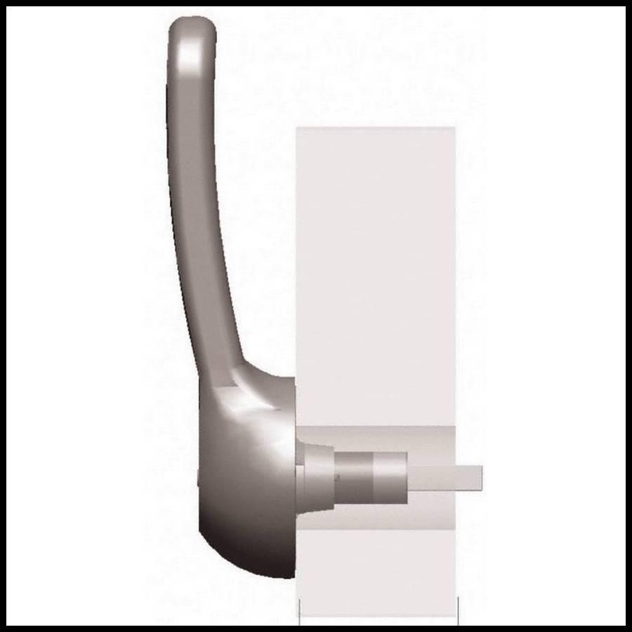 Fermeture par cliquet pour porte de chambre froide de 120 mm RAHRBACH 7501  VITRO avec serrure