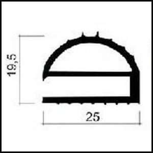 Joints de frigos professionnels gris de 25 x 19 5 mm - Joint porte chambre froide ...