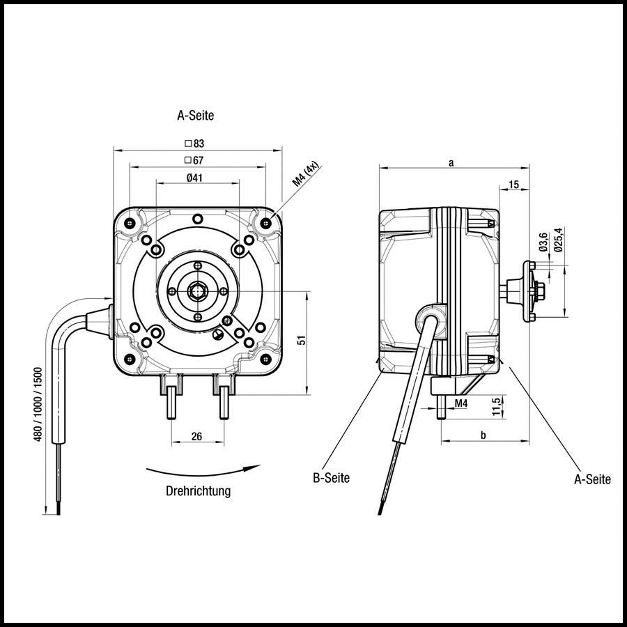 moteur de ventilateur ebmpapst iq 3620 de 26 w avec
