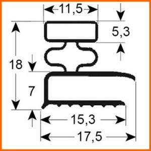 Joint de mat riel frigorifique gris sur mesure type 9031 for Thermostat chambre froide