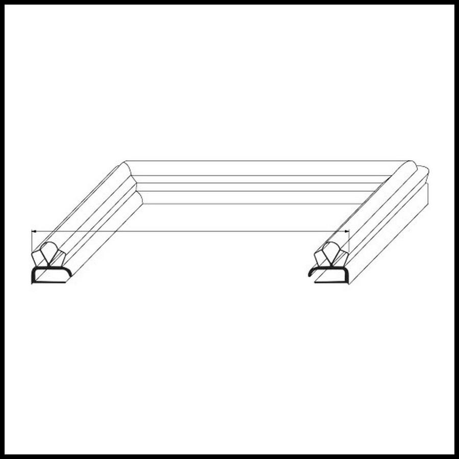 joint de mat riel frigorifique gris sur mesure type 9191. Black Bedroom Furniture Sets. Home Design Ideas